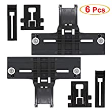 [Latest Version] UPGRADED W10350376 Dishwasher Top Rack Adjuster & W10195839 Dishwasher Rack Adjuster & W10195840 Dishwasher Positioner Fit For Whirlpool Kenmore -Enhanced Durability with Steel Screws