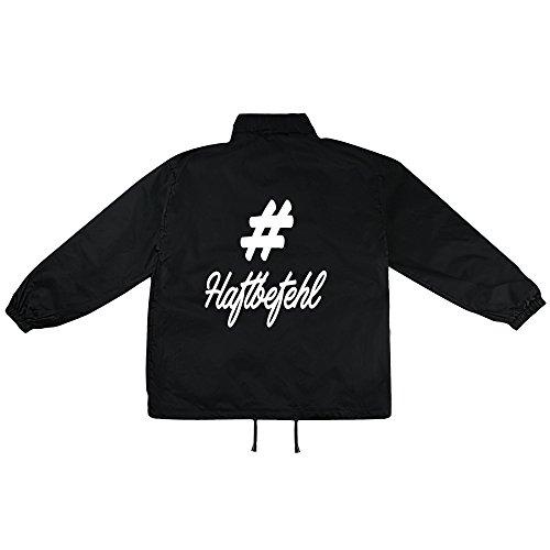 hashtag Haftbefehl Motiv auf Windbreaker, Jacke, Regenjacke, Übergangsjacke, stylisches Modeaccessoire für HERREN, viele Sprüche und Designs