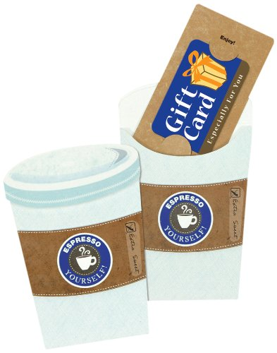 C.R. Gibson Espresso Pocket Gift Card Mailers
