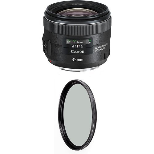 Canon EF 35mm f/2 IS USM Wide-Angle Lens w/ B+W 67mm XS-Pro HTC Kaesemann Circular Polarizer