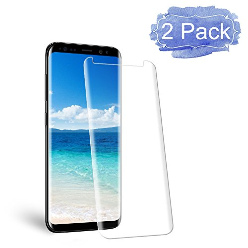 [2 Pack] Galaxy S8 Screen Protector, Live2Pedal [9H Hardness][Anti-Scratch][Anti-Bubble][3D Curved] [High Definition] [Ultra Clear] Tempered Glass Screen Protector Samsung Galaxy S8 by Live2Pedal