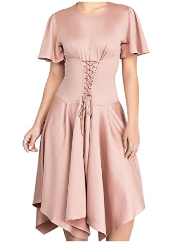 Coolred-femmes Slim Fit Solide Ras Du Cou Haute Robe Bandage Faible Ourlet As1