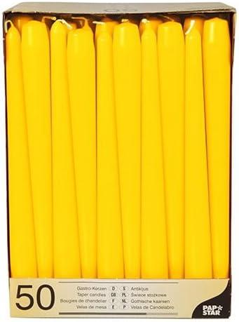 100 Leuchterkerzen /Ø 2,2 cm 25 cm gelb