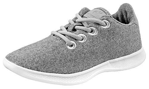 - Urban Fox Beckett Womens Wool Fashion Sneakers | Fashion Sneakers Women | Wool Sneakers Women | Lightweight Light Grey 7