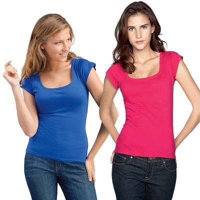 SOL'S - Camiseta - cuello barco - Manga corta - opaco - para mujer Rosa Pink - fuchsia Talla:mediano