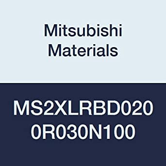 10 mm Neck Length 0.3 mm Corner Radius 2 Short Flutes 2 mm Cutting Dia Radius Shape Corner Radius Mitsubishi Materials MS2XLRBD0200R030N100 MS2XL Series RB Carbide Mstar End Mill Long Neck