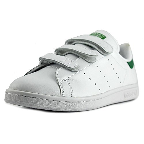 adidas Men's Stan Smith Footwear White/Green Ankle-High Leather Fashion Sneaker - 10.5M