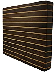 Kobi Blocks Stripes Walnut Maple Butcher Block Wood Cutting Board 14 X 20