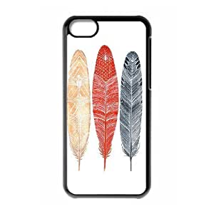 Indians Feathers DIY Cover Case with Hard Shell Protection for Iphone 5C Case lxa#839157