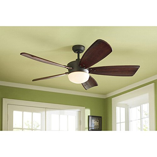 Harbor Breeze Platinum Series 60-in Oil-rubbed Bronze Downrod Mount Ceiling Fan with Light Kit and (Series Mounting Kit Ceiling Mount)