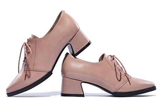 YCMDM donne del cuoio genuino Scarpe comode per il tempo libero di moda primavera autunno-inverno chiaro Rosa Viola Rosso Nero 34 35 36 37 38 39 , light pink , 36