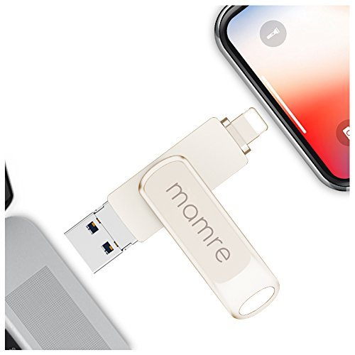3 in 1 Micro USB/USB/Lighting Flash Drive 32GB, USB 3.0 Memory Stick with Extended Connector for iPhone, iPad, PC, and Other iOS/Android Devices