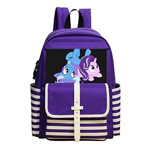 T-rixie-Starlight My_Little_Pony School Bag Backpack Student Bookbag Laptop Shoulder Satchel Daypack For Boys -