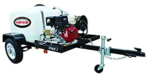 Simpson 95000 Mobile Gas Pressure Washing System with Honda Commercial Engine and Trailer