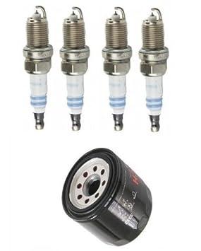 Tune Up Kit Bujías con motor filtro de aceite BOSCH Acura ...
