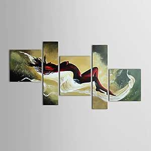 Compre Bonitos Regalos Hechos A Mano Pinturas Al Óleo Desnudas Abstractas En La Lona Pintadas A