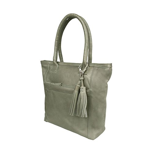 COWBOYSBAG Damen Tasche Schultertasche Shopper Bag Leeds Grey 1924
