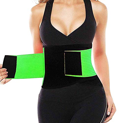 Waist Trainer Belt for Women & Man - Waist Cincher Trimmer Weight Loss Ab Belt - Slimming Body Shaper Belt Green