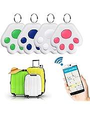 4 Pcs Mini Cat/Dog GPS Tracking Locator,Cute Dog Paw Portable Bluetooth Intelligent Anti-Lost Tracker Device for Wallet/Kid/Pet (B)