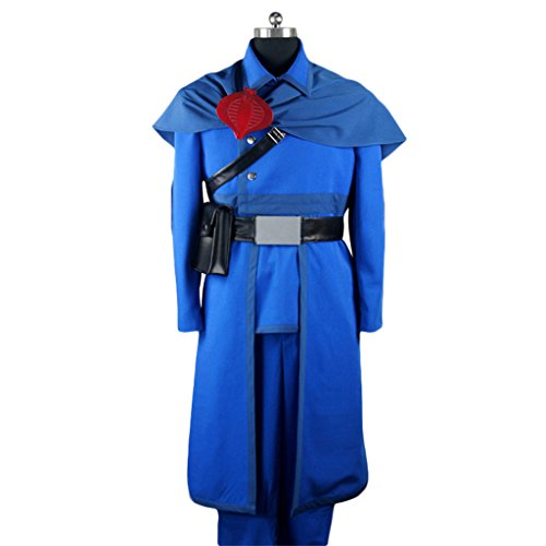 [Holysteed Cosplay Costume_G.I. Joe_Cobra Commander_complete clothes+accessories XX-Large] (Gi Joe Cosplay Costumes)