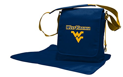 Wild Sports NCAA College West Virginia Mountaineers Messenger Diaper Bag, 13.25 x 12.25 x 5.75-Inch, Blue by Wild Sports