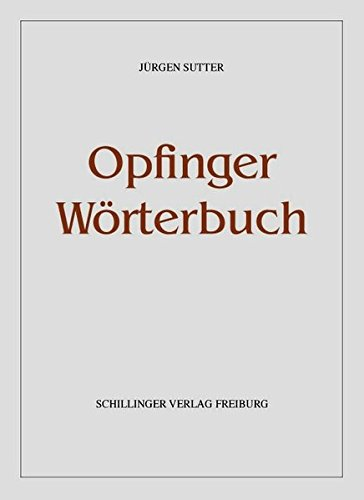 Opfinger Wörterbuch