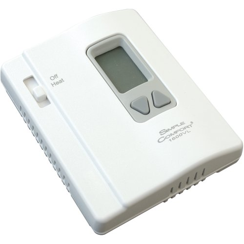 ICM Controls SC1600VL ICM Simple Comfort Thermostat, Heat Only, No Fan Switch, Remote Sensing, Battery, Vertical
