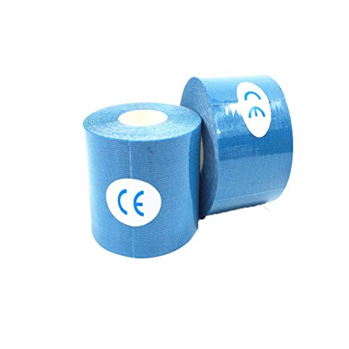 MaxFox Elastic Kinesiology Sports Bandage Muscle Sticker Tape 5 Roll 5cm ,Reduce Muscle Pain Care Therapeutic Intramuscular Knee Shoulders Patch Fits Training Swimming