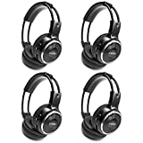4 Pack of Wireless Infrared Two-Channel Foldable