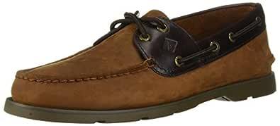 Sperry Top-Sider Men's Leeward Boat Shoe, Brown, 9.5 Wide US