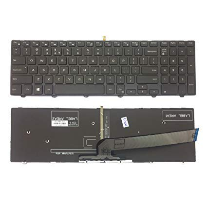 ET Laptop Internal Backlight Keyboard for Dell Inspiron 15 3000 5000 3541 3542 3543 3551 3558 5542 5545 5547 P/N 0G7P48
