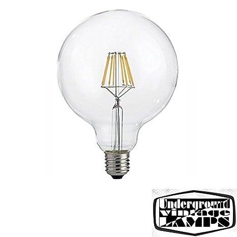 Bombilla LED Globo Vintage G125 8, E27, 2700 K, 1000lm Lámpara Decorativa: Amazon.es: Iluminación