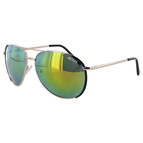 2ec8dd9688c Guess Womens GF0267 Wire Rim Aviator Fashion Sunglasses Gold - Gold Aviator  Guess Sunglasses