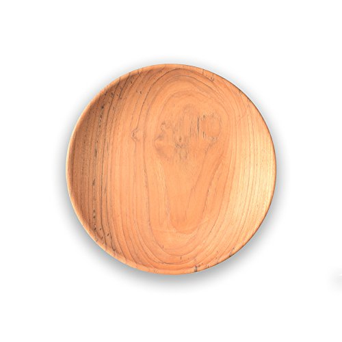 de Bois Dish wood 8 Inch l Organic Teak Dish l Teak Dish l Non Toxic Wooden Kitchen Utensils l Gift For Serving - Dishes Wood Serving