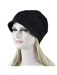 Staron  Womens Hats Solid India Muslim Stretch Turban Hat Hair Loss Head Scarf Wrap