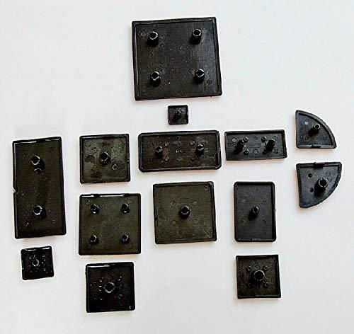 Ochoos Plastic End Cap Aluminum Profile Accessories Black for 4590