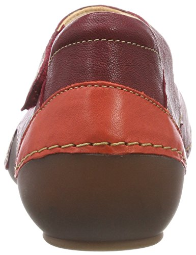 Rouge Cheville Kapsl 282060 Femme Ballerines 72 Think À Bride rosso kombi x10dX5qw