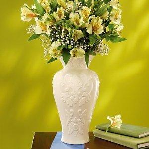 Amazon.com & Amazon.com: Lenox Georgian Fine Porcelain Tall Vase Ivory ...