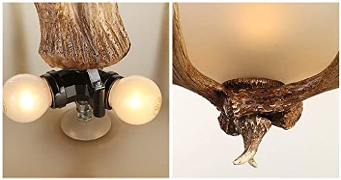 Pendant Light Chandelier Lamp Resin Ceiling 3 Head E27 Light Source Resin Branch Body Glass Shade s for Living Room Dining Room.