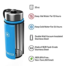 ICEWATER 3-in-1 Smart Stainless Steel Water Bottle(Glows to Remind You to Stay Hydrated)+Bluetooth Speaker+ Dancing…