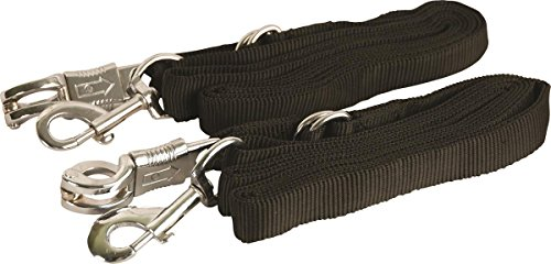 GATSBY LEATHER COMPANY 284219 Adjustable Nylon Crossties with Panic Snap Black, 5-9'