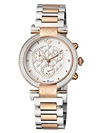 GV2 by Gevril Women's 'Berletta Chrono' Swiss Quartz Stainless Steel Casual Watch, Color:Two Tone (Model: 1553)