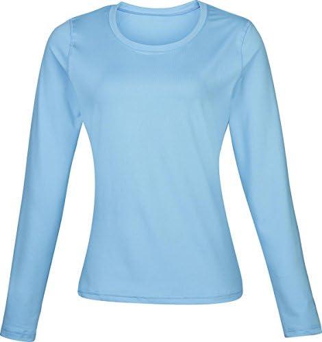 New Camiseta Interior térmica para Mujer Traje de Neopreno para Mujer Rhino de Manga Larga para Fitness Ahogadilla para Mujer de Manga Larga para, Color Azul Claro, tamaño 8: Amazon.es: Ropa y