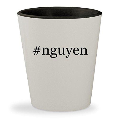 #nguyen - Hashtag White Outer & Black Inner Ceramic 1.5oz Shot - My Vu Glasses