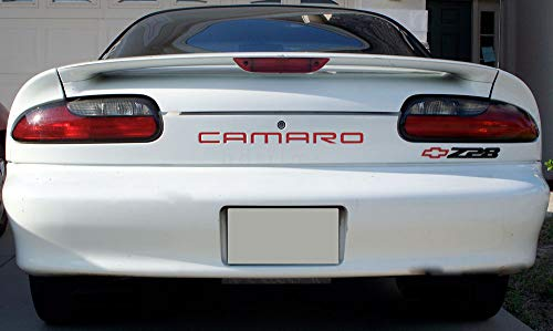 BDTrims Front and Rear Bumper Plastic Letters Inserts fits 1992-2002 Camaro Models (Red) ()