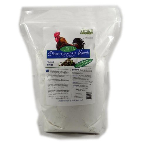 Parasite Control - Lumino Organic Diatomaceous Earth For Poultry Parasite Control Treatment 1.5lbs