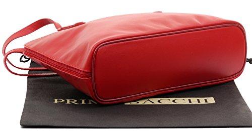 comprend un rangement protection sac grand Rouge de à main en souple long à bandoulière Sacchi® de manche à Primo sac italien marque de cuir xZRSq6USCw