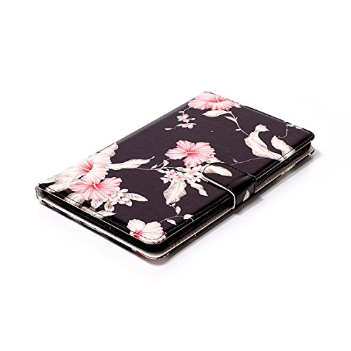 Galaxy T377v/T377a Case,Tab E 8.0'' Case,UUcovers Ultra Slim [Fancy Pattern] PU Leather Flip Stand Case Protective Cover for Galaxy Tab E 8.0 Inch SM-T375/T377a/v/p Tablet-Pink Flower by UUcovers (Image #6)