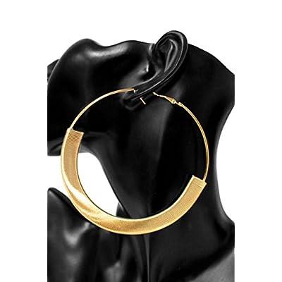 Discount Womens Ladies 100mm Metal Large Big Hoop Ring Earrings CE1011 supplier
