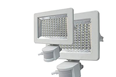 Lightahead® 100 LED Solar Motion Sensor Flood Light, Waterproof and all weather durable, 100 Bright White SMD High Output LEDs Solar Security Light, Wall Lights, Solar Rechargeable Floodlight